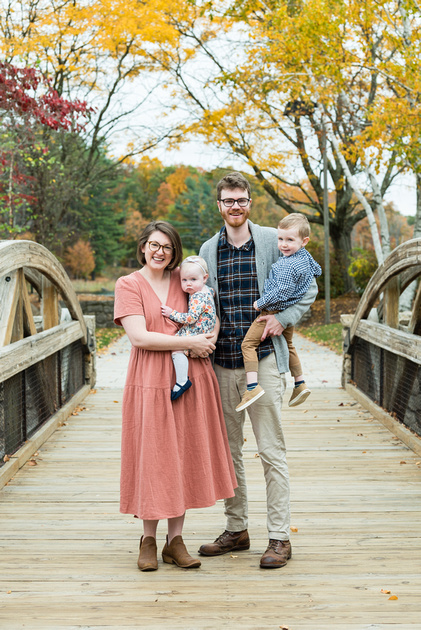 Lincoln Woods Rhode Island fall family session.